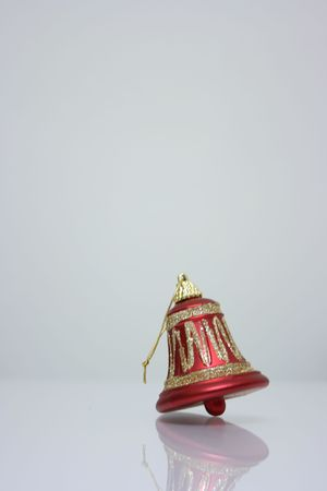 Christmas ornament, a red bell Stock Photo