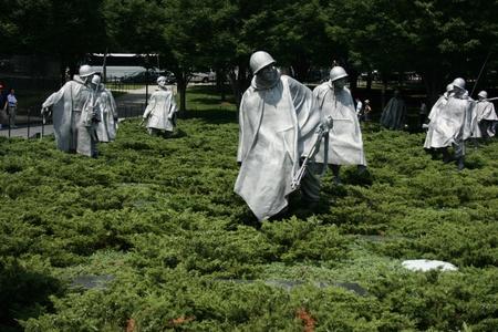 Washington DC, July 22, 2010 - Memorial sculptures of Korean War