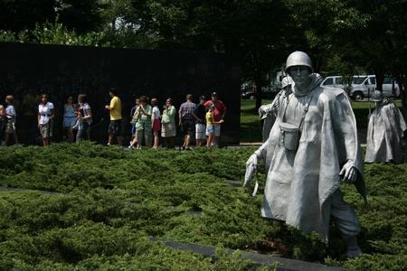 Washington DC, 22 lipca 2010 - Memorial rzeźby z wojny koreańskiej