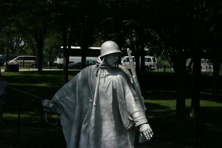 Washington DC,USA, July 22,2010 - Korean War Veterans Memorial