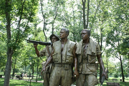 Washington DC,USA, July 22,2010 –The Three Soldiers, Vietnam Veterans Memorial