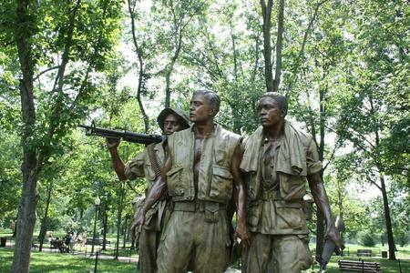 Washington DC,USA, July 22,2010 –The Three Soldiers, Vietnam Veterans Memorial Stock Photo - 8644749
