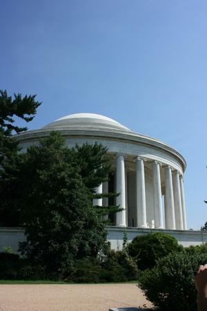 Lipca Washington DC, USA, 22,2010 –Thomas Memorial Jefferson (pionowe)