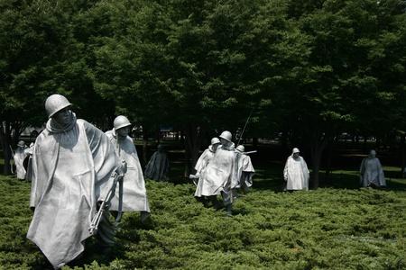 honouring: Washington DC, July 22, 2010 - Memorial sculptures of Korean War