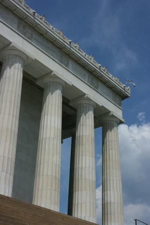 Washington DC, July 22, 2010 - Thomas Jefferson Memorial, low angle