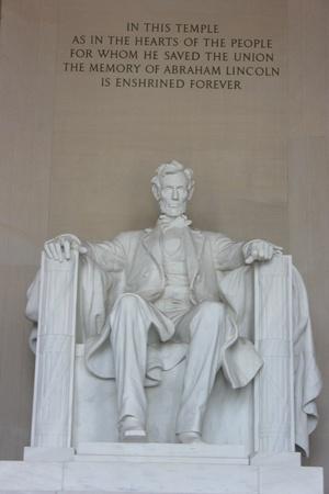 Washington DC, 22 lipca 2010 – Abraham Lincoln Memorial, pionowa