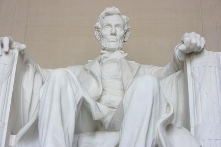 presidents': Washington DC, July 22, 2010 – Abraham Lincoln Memorial, close up