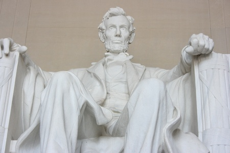 Washington DC, July 22, 2010 – Abraham Lincoln Memorial, close up Editorial