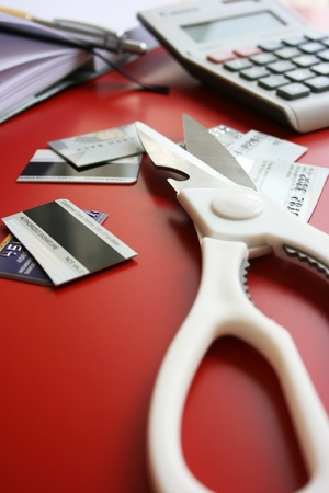 Cutting credit card after financial planning photo