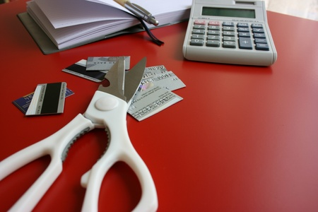 Cutting credit card Stock Photo - 8900469