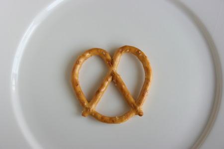 pretzels: Pretzels on a plate