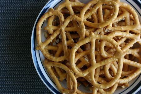 pretzels: Pretzels in a bowl Stock Photo