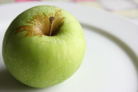Close up of a green apple