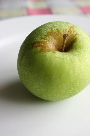 Green apple, close up
