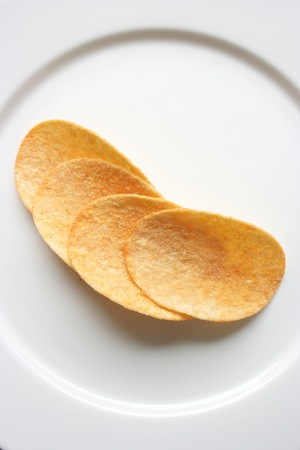 Potato chips, vertical