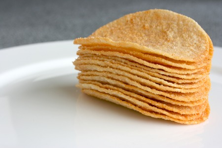 A stack of chips