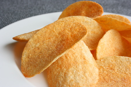 Potato chips in a plate