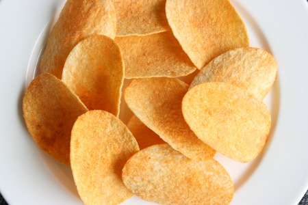 Chips, aerial view Stock Photo