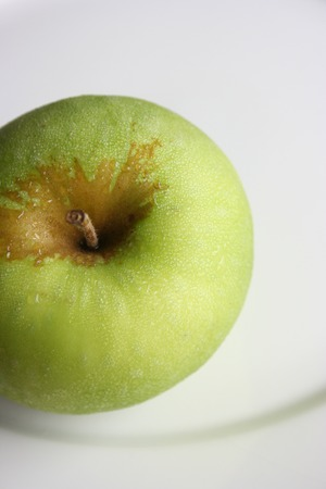 Aerial view of an apple