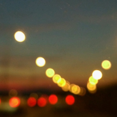 Bokeh city lights Stock Photo