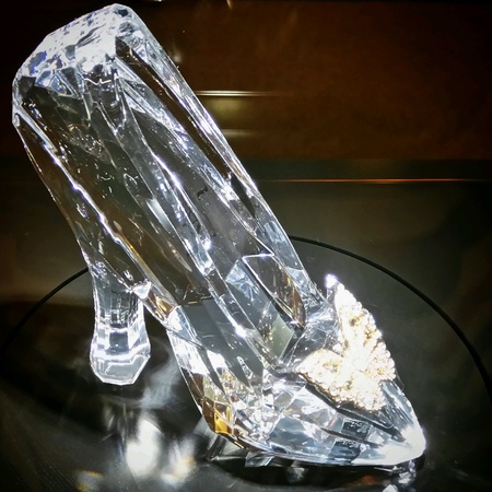 The legendary Cinderella crystal shoe Stock Photo