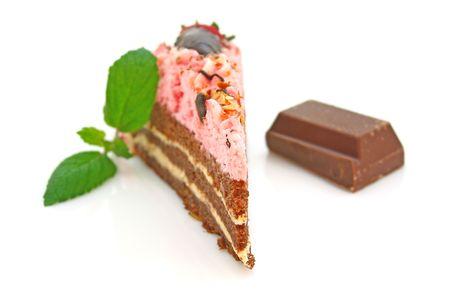 Strawberry cake Stock Photo - 4748106
