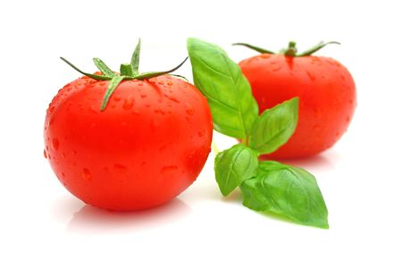 トマト、バジル