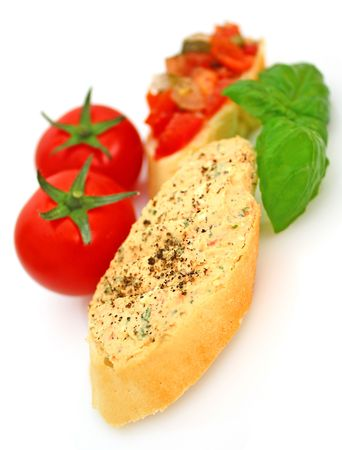 appetiser: Bruschetta Stock Photo