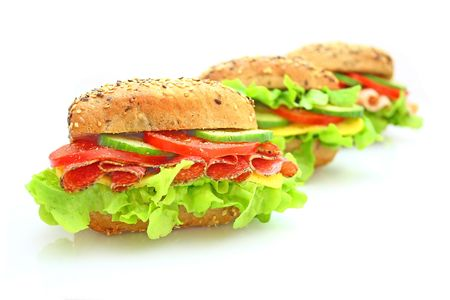 Fresh sandwich with vegetables Stock Photo - 5647227