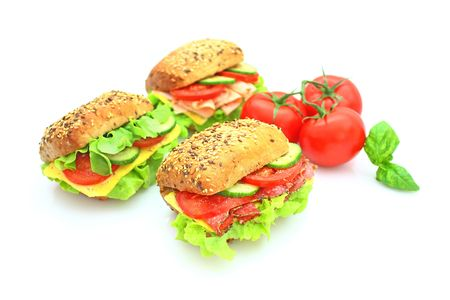 Fresh sandwich with vegetables Stock Photo - 5647197