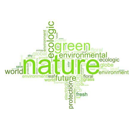 ahorrar agua: Ilustraci�n con muchos t�rminos diferentes como natur, el medio ambiente o el futuro