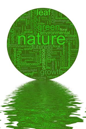 Nature illustration with many different terms like nature or world illustration