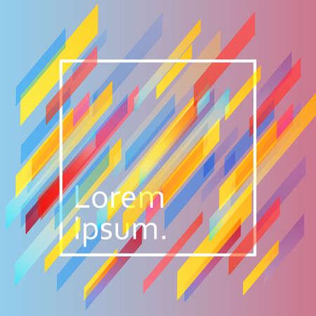 Fondo de líneas coloridas con diseño dinámico plano aplicable para cubiertas, tarjetas, carteles y diseños. ilustración Ilustración de vector