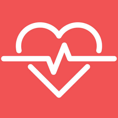 Illustration of Heartbeat Heart Shape Pulse Cardio ecg or ekg