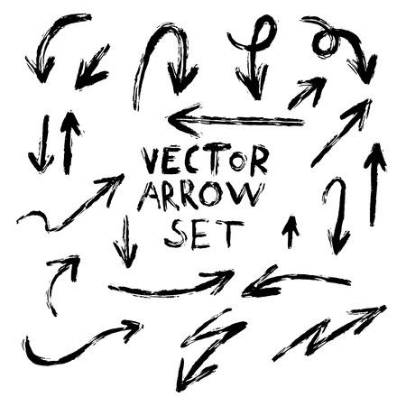 Illustration of Grunge Sketch Handmade Marker Doodle Vector Arrow Set