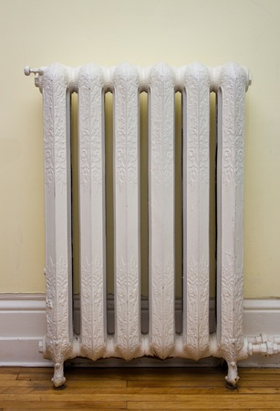 Ornate, antique heat radiator  Banco de Imagens