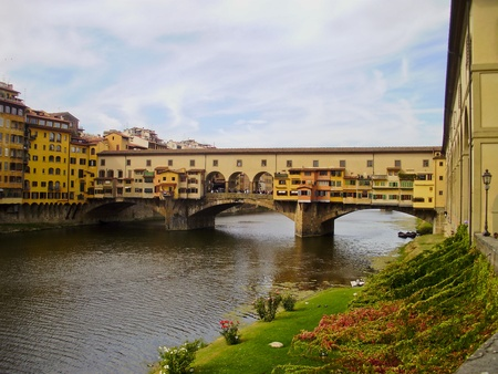 The covered bridge Ponte Vecchio in Florence, Italy