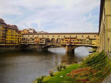 The covered bridge Ponte Vecchio in Florence, Italy  Stock Photo - 13579587