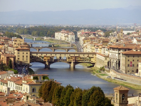 The city of Florence, Italy located in Tuscany  Stock Photo