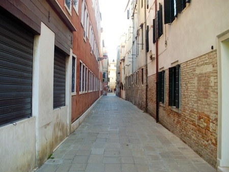 venice: The narrow streets of Venice, Italy.