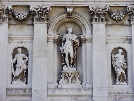 Statues at the Santa Maria della Salute in Venice, Italy. photo