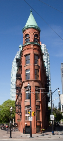 redbrick: The red-brick Gooderham Building  commonly referred to as the  Editorial