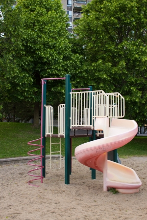 school playground: A play structure for children in the park  Stock Photo
