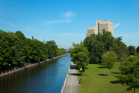 rideau canal: The Rideau Canal in Ottawa, Canada