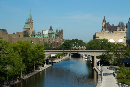 The Rideau Canal in Ottawa, Canada photo