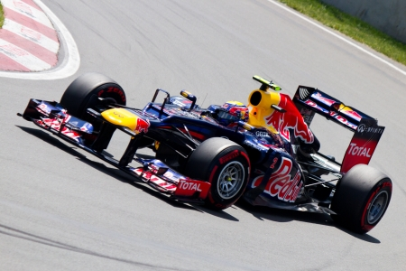 Mark Webber with Red Bull Racing at the Formula 1 Canadian Grand Prix in Montreal, Canada on Saturday, June 9, 2012