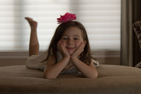 Playful, happy child posing  photo