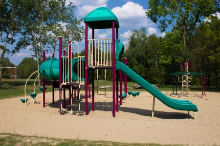 공원에서 구조를 재생 스톡 콘텐츠