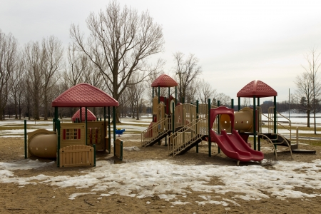 structure: Play structure in the park