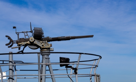 World War 2 anti-aircraft deck gun Stock Photo - 17012530
